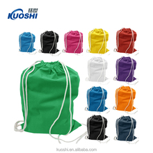 custom print promotional 420d nylon drawstring backpack bags