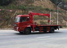 Flatbed wrecker with crane tow truck for sale