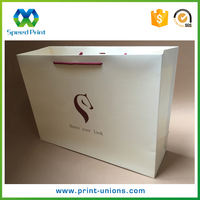 Eco friendly custom printed spot UV shopping gift paper bag with logo print