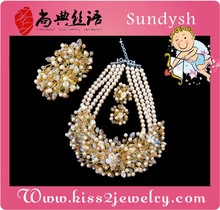 big fashion beads imitation simple artificial uncut american diamond jewellery necklace designs sets