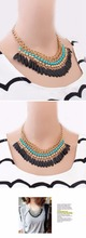 Bohemia style latest design beads necklace with high quality and good price