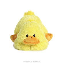 Best price promotional Suntown high quality super plush stuffed animal cute yellow little lying prone 20cm duck soft toy