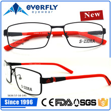 2016 most elegant stainless eyeglasses with colorful pattern
