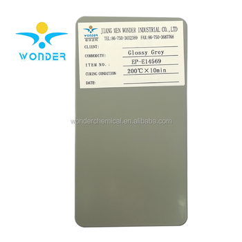 Epoxy polyester smooth surface metallic silver powder coating