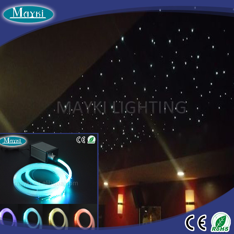 Starry sky twinkle effect fiber optic night light with 5W LED drive and tails