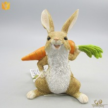 Facotry Supplier Cheap Garden Resin Vegetable And Animal Rabbit Figurines Sculpture Decoration