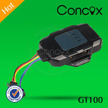 Concox Direct Manufacture Small Dimension GT100 Motorcycle Cheap GPS GPRS Tracker with Easy Installation