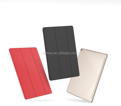 High quality three folding filp auto sleep& wake pu leather stand cover protective case