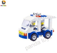 Professional child building block manufacturer Police Electric Vehicle block Regional patrol car for kids gifts toys diy PA05023