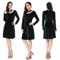 Party Wear Green Suede Ladies Fancy Dress Wholesale For Women