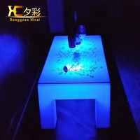 Special led light plastic coffee table tea table