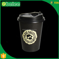 8oz disposable coffee paper cups with lid