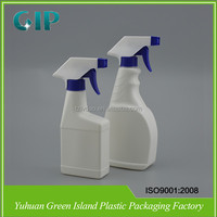 PE Flat Plastic Spray Bottle for Laundry Detergant Liquid