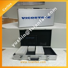 High Quality customized aluminum display box for stone/marble/quartz sample