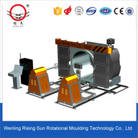 Shuttle type small rotomolding automatic machines for making toys guns