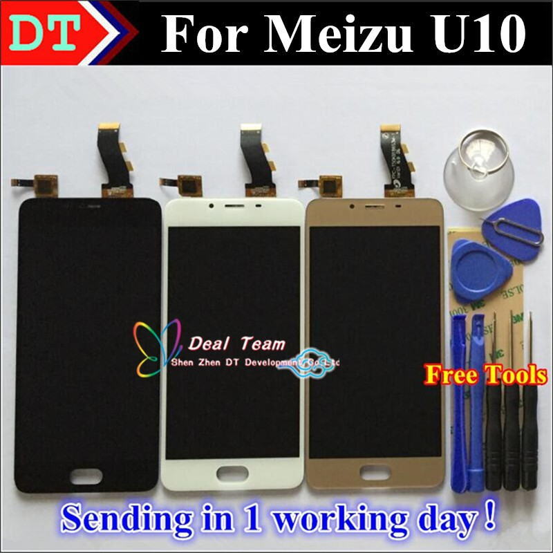 100% original vancca Touch Screen Digitizer + LCD Display for Meizu <strong>U10</strong>