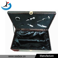 good quality leather wine carrier box for double
