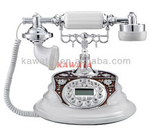 Decorative antique style brass telephone
