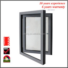 Interior Hopper Window for Sale Thermal Break Horizontal Inswing French Side Hung Vinyl Aluminum Casement Window Styles