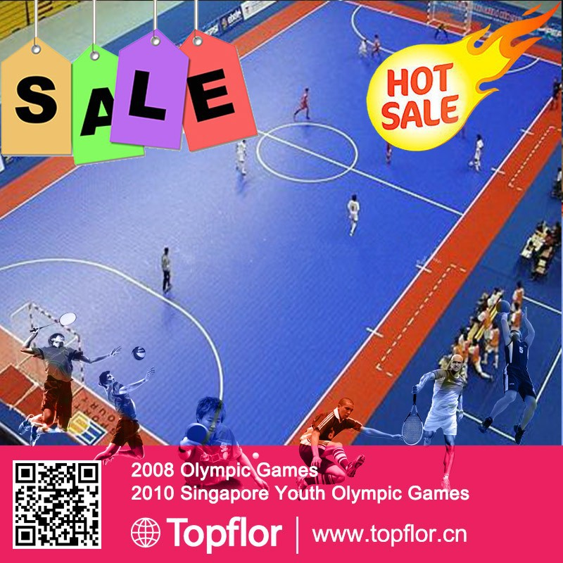 Indoor futsal sports court plastic floor tiles