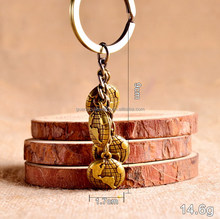 Zinc alloy metal vintage earth globe key chain keychain