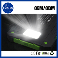 Shenzhen Factories Waterproof Solar Power Bank High Effciency New Arrival Solar Power Bank Flashlignt Mobile Charger