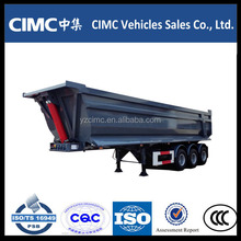 CIMC manufacturing 3 axles heavy duty rear tipping semi trailer