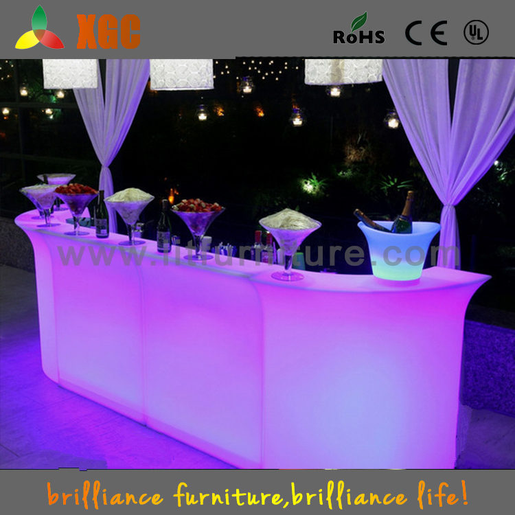 Lighting mobile bar counter,luxury LED bar table,fantastic bar counter for wedding decoration