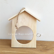wooden Natural Bird Nest Rustic Decorative Birdcage Stand wooden house for bird Natural wooden hanging bird house in custom
