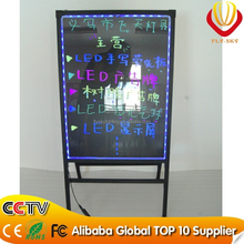 Alibaba new products 60*80cm integrated A- stand advertising LED writing board for shops promotion