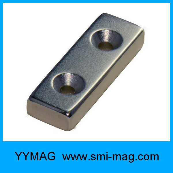 Ndfeb rectangle permanent magnet with countersink hole