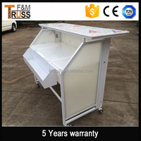 Aluminum cheap coffee bar counters for sale