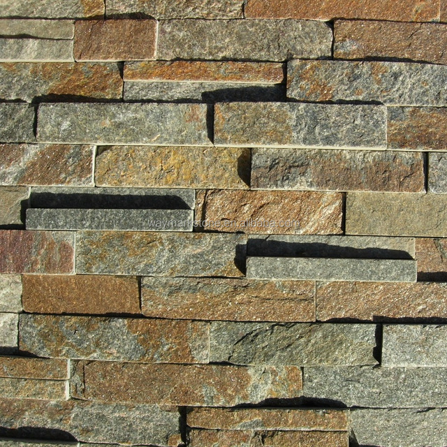 Rusty Mica Schist Natural Stone Wall Cladding