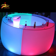 2017 new plastic illuminated color changing led bar counter/led bar counter/led bar table