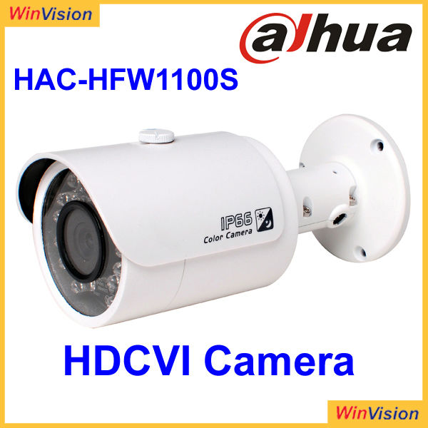 High speed, long distance real-time Dahua HDCVI camera HAC-HFW1100S waterproof bullet ir camera hdcvi dvr
