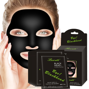 deep cleansing purifying peel off black mud remove blackhead facial mask