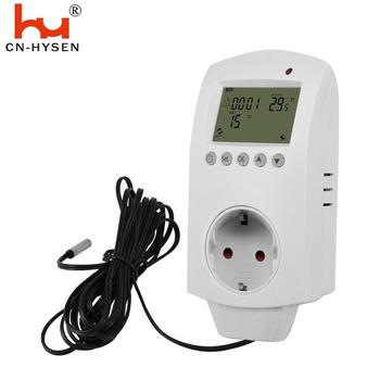 HY02TP Digital Thermostat Regulator Plug Temperature Controller Switch AC 220V Microcomputer with NTC Sensor