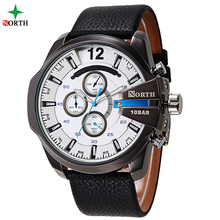 leather brand your own watches 30 Meters 100 Feet 3 ATM Water-resistant western price of western advertisement of watches
