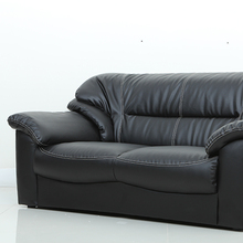 New Modern black leather seats and sofas