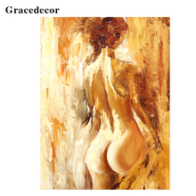 GS1-138-1 Abstract Nude Female Body Art Acrylic Painting For Bedroom