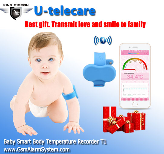 Baby Intelligent Wearable Electronic Thermometer Bluetooth Smart Happy Baby Monitor Electronic Thermometer