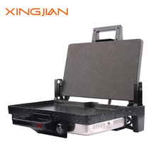 2000W Stainless Steel Electric double plate Contact Grill