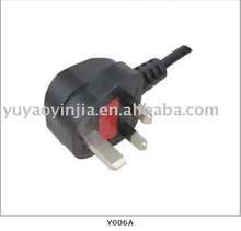 UK BS plug/ British plug /power supply cord (BS 1363A approval)