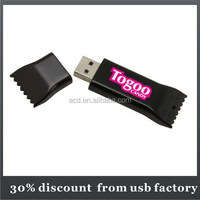 promotional gift sweet shape bulk 8GB plastic usb flash