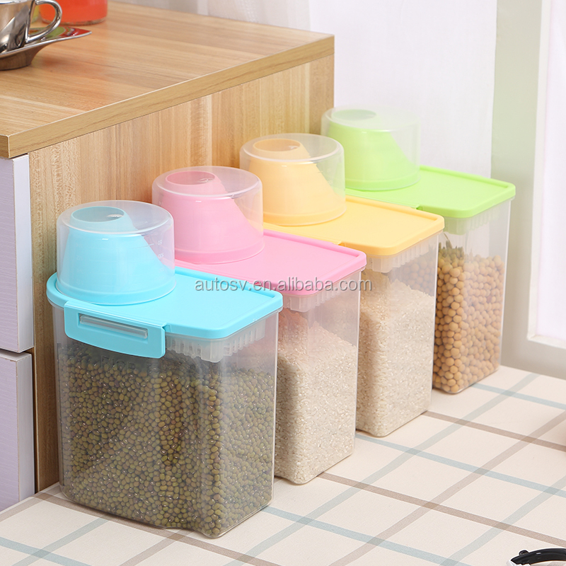 PP plastic kitchen plastic container box set,clear plastic storage box with lid, home containers for food storage