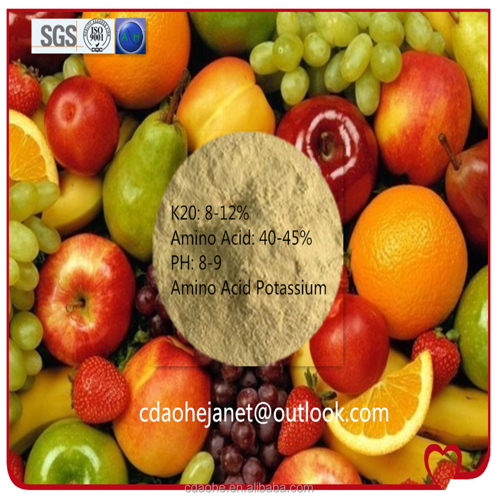 Fruit and vegetables growth promoter,AOHE amino acid 40-45% K2O 8-12% AA-K