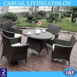 Patio Rattan Furniture 5pcs High quality dining round table set