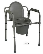 Durable bathroom toilet commode chair