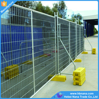 Australia standard temporary fence with plastic feet and galvanzied welded wire panel and post