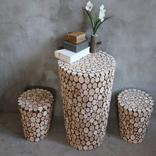 Exquisite natural wooden teatable for home decoration